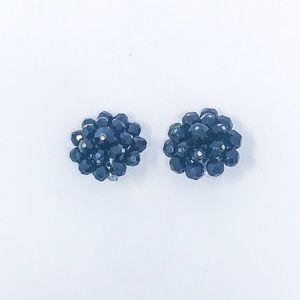 Black Mid Century Laguna Vintage Cluster Earrings